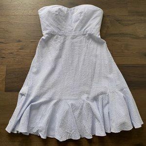 J. Crew Strapless Seersucker Dress